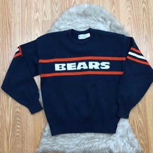 Vintage Chicago Bears Knit Sweater Size Large